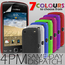 MESH NET SKIN CASE COVER & SCREEN PROTECTOR FOR BLACKBERRY CURVE 9380