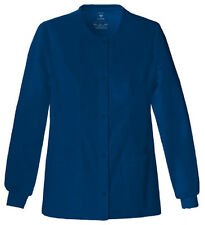 Scrubs Cherokee Luxe Warm-Up Jacket 1330  Navy  FREE SHIPPING!