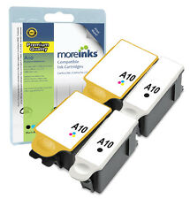 4 Compatible Advent ABK10 / ACLR10 Ink Cartridges for A10 AW10 AWP10 Printers