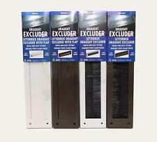 Letterbox Cover Draught Excluder with Brush or Brush & Cover White Brown Draft