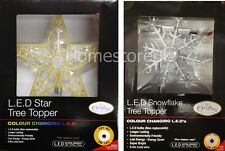 COLOUR CHANGING LED TREE TOPPER LIGHT CHRISTMAS BATTERY OPERATED XMAS DECORATION