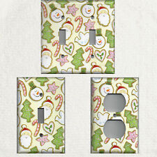 Christmas Sugar Cookies on Light Yellow Background Switchplates & Outlet Covers