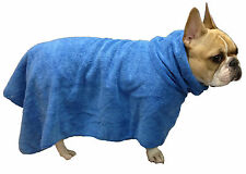 Trixie Dog Bath Robe Microfibre Towel Blue ideal bathing dry dog after walking