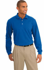 Port Authority Men's Casual 3 Button Placket Moisture Wicking Polo Shirt. K455LS