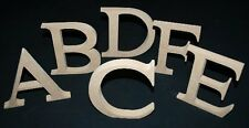 "Wooden Alphabet Letters MDF Freestanding 6"" Capital Letters Unpainted"