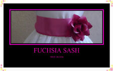 NEW FUCHSIA SASH  MATCH FLOWER GIRL CHRISTMAS DRESS