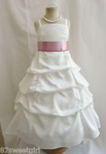 SPU IVORY DUSTY ROSE MAUVE WEDDING PARTY PRINCESS GOWN PAGEANT FLOWER GIRL DRESS