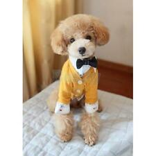 Orange Yellow Cotton Clothes Coat Cardigan-Style for Pet Dog Dinner Party S M L
