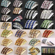 Wholesale Crystal Rhinestone 3 Holes/Strands Silver/Gold Spacer Beads Findings