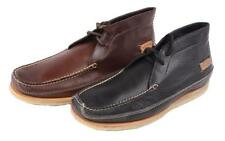Johnston and Murphy Kholson Chukka Mens Black OR Mohogany Leather Casual Boots