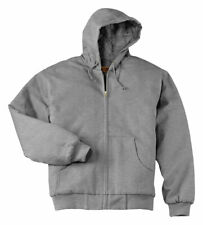 CornerStone Men's Heavyweight Thermal Lining Full Zip Hoodie Sweatshirt. CS620