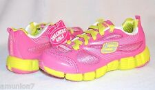 Skechers Stride Girls Shoes Size 11 12 Youth Pink Lime Lightweight Sneakers