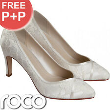 Ladies Ivory Designer Rainbow Club Court Formal Wedding Bridesmaid Bridal Shoes