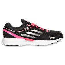 ADIDAS Kids Adizero Rush JR Running Shoes Sharp Black/Intense Pink $80
