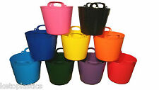 PACK OF 2 - 42L FLEXI TUB / TUBS / BUCKETS / CONTAINER FOR GARDEN MADE IN UK