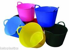 PACK OF 3 - 42L FLEXI TUB / TUBS / BUCKETS / CONTAINER FOR GARDEN MADE IN UK
