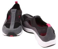 Easy Spirit Active Walk Nice Womens Charc/Black/White Leather/Textile Sneakers