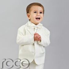 Baby Boy Suits Ivory Cream Tuxedo Wedding Formal Cruise Page Boy Suit 0 - 24m