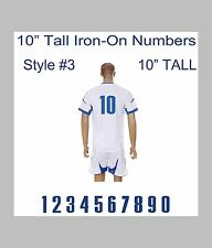 "10"" Tall Iron-On Number for Football Baseball Jersey Sports T-Shirt Style #5"