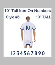 "10"" Tall Iron-On Number for Football Baseball Jersey Sports T-Shirt Style #12"