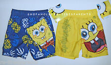 SPONGEBOB - SWIM TRUNKS – UPF 50+ - BLUE or YELLOW - SIZES 12 or 18 MO  – NWT