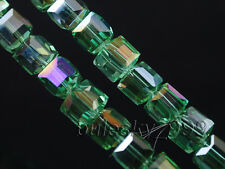 40pcs 10mm Charms Cube Spacer Necklace&Bracelet Finding Loose Glass Crystal Bead