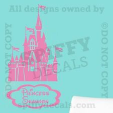Princess Fairy Castle Disney Personalized Quote Vinyl Wall Decal Decor Sticker