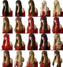 Womans Stunning XXX Long Wavy Lady Blonde Wig Black Brown Red Wigs -25 COLOURS E