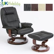 Napoli Leather swivel recliner chair with heat and 10 point massage functions