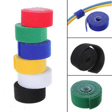 1m 25mm Sticky Reusable Velcro Hook & Loop Tape Strip Tie Roll color choose