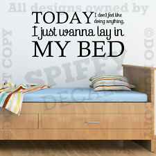 Bruno Mars The Lazy Song Lay In My Bed Quote Vinyl Wall Decal Decor Sticker