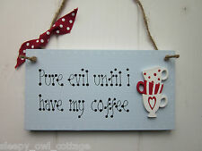 KITCHEN COFFEE MUG CUP SIGN PLAQUE Country Cottage Chic Vintage Style