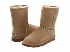 NEW WOMEN BOOT UGG AUSTRALIA W CLASSIC SHORT SAND 5825 ORIGINAL FREE SHIPPING