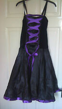 girls ladies fancy dress costume gothic witch dance size 8 10 12 14 16 18 20 new
