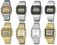 Casio Retro Digital Alarm Stopwatch Chronograph Silver / Gold Ladies Gents Watch
