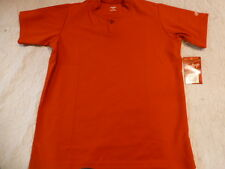 Youth Boys RAWLINGS RED Baseball ONE Button HENLEY JERSEY 100% POLYESTER