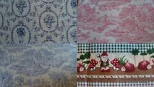 TOILE DE JOUY FINE COTTON CRAFTS QUILT PATCHWORK pieces  FRENCH PICS IN LISTING