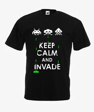 80'S RETRO SPACE INVADERS/ KEEP CALM AND INVADE on T-SHIRTS