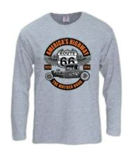 Americas Highway Long Sleeve T-Shirt Hot Rod Street Route 66 Mother Road Wings