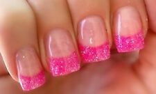 FINE GLITTER DUST BLING SPARKLY BRIGHT PINK NAIL ART 4 GEL/NATURAL/ACRYLIC #15