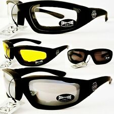 C901)New Chopper Sunglasses-Padded-Vented*NWT'S*Motorcycle-Biker-Goggles-Choices