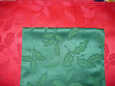 New Lenox HOLLY DAMASK You Pick the Color Napkin Tablecloth Runner Placemat red