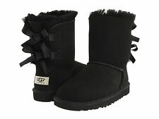 NEW KIDS GIRLS WOMEN UGG AUSTRALIA BAILEY BOW BLACK 3280K ORIGINAL FREE SHIPPING