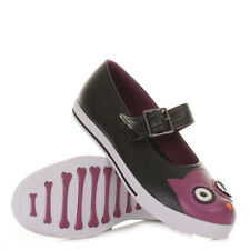 WOMENS LADIES TUK SHOES OWL CHARACTER FLAT MARY JANE FLAT CREEPERS SIZE 3-8