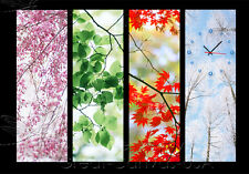 4 Seasons Gorgeous Wall Art On Museum Quality Canvas Prints Set Choice Of Clock