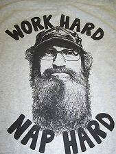 DUCK DYNASTY SI WORK HARD NAP HARD T-SHIRT NEW !