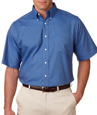 UltraClub Men's Classic Wrinkle Free Button Down Collar Oxford Shirt. 8972