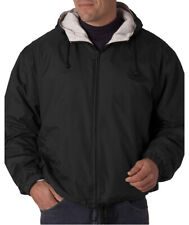 UltraClub Men's Perfect Fleece Bell Tips Lined Hooded Jacket. 8915