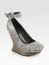 NEW MCQ ALEXANDER MCQUEEN 7 37  SNAKE STUD WEDGES SHOES