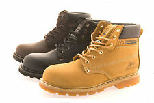 Mens Size 6 - 12 Leather Steel Toe Cap Safety GROUNDWORK Work Boots Lace Up